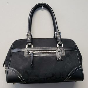 💗 Gently used authentic black Coach satchel